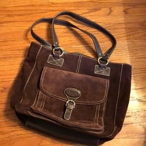 Brown Suede Chaps Purse